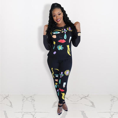 Women Casual Sweatsuits Sportswear Runway Sweatshirt Outfits 2 Piece Suit Co Ord Autumn - Exclusive Fashions