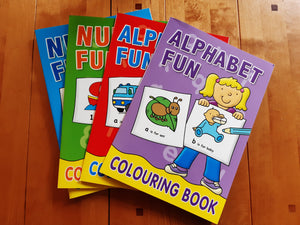 Plastic free Alphabet & Number Colouring Books - Set of 4 - Alphabet & Number Colouring Books - Set of 4 - Shop NO Plastic