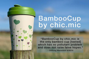 Bamboo Reusable Coffee Cup - Field of Love - Bamboo Reusable Coffee Cup - Field of Love - Shop NO Plastic