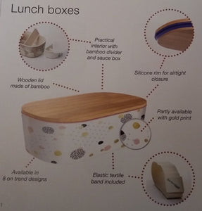 Deluxe Lunch box - Minimalist Flowers - Deluxe Lunch box - Minimalist Flowers - Shop NO Plastic