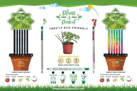 Plant a Pencil - HB & Colour - Plant a Pencil - HB & Colour - Shop NO Plastic