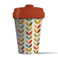 Plastic free Bamboo Reusable Coffee Cup - Bright leaves - Bamboo Reusable Coffee Cup - Bright leaves - Shop NO Plastic