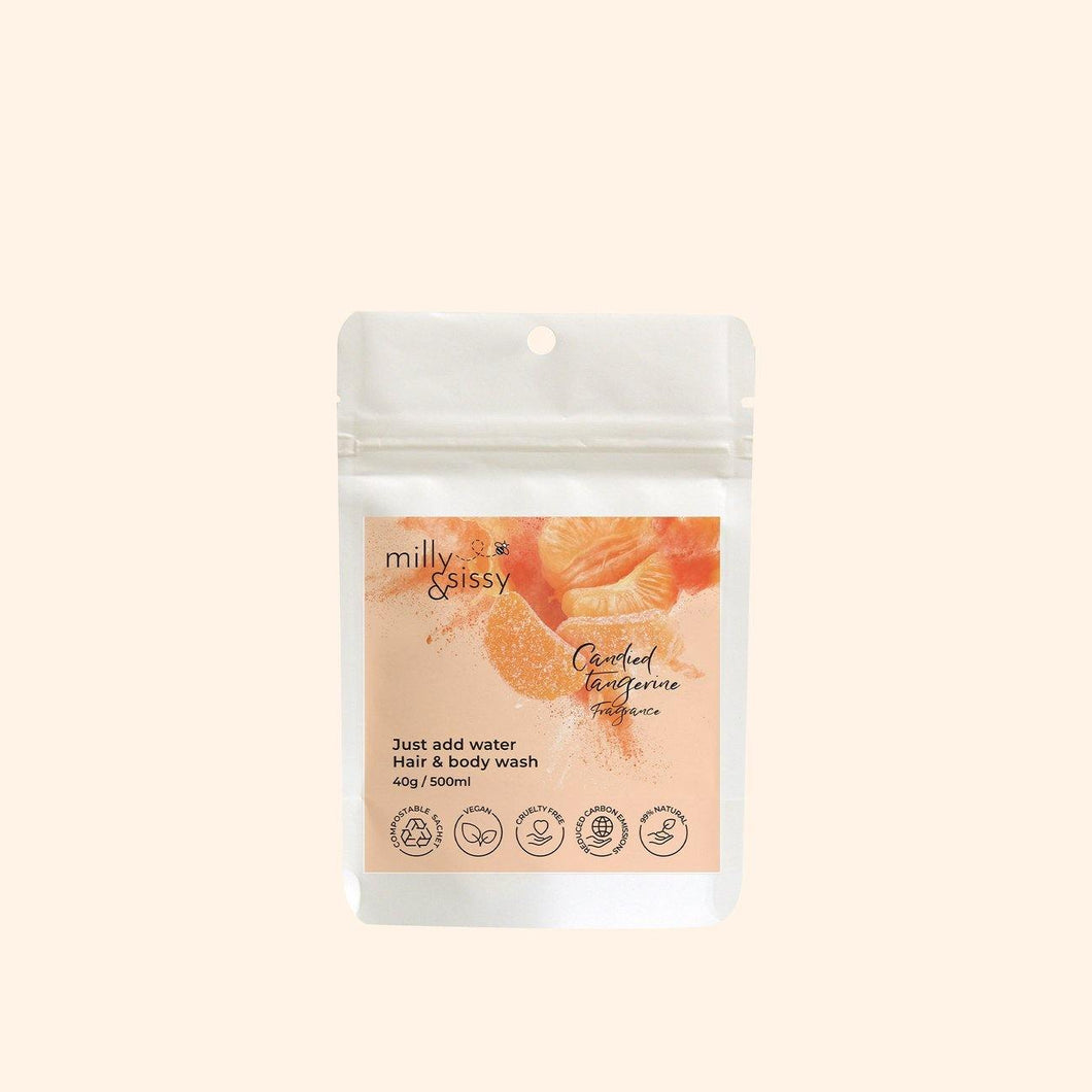 Plastic free Candied Tangerine Hair & Body Wash Refill - Candied Tangerine Hair & Body Wash Refill - Shop NO Plastic