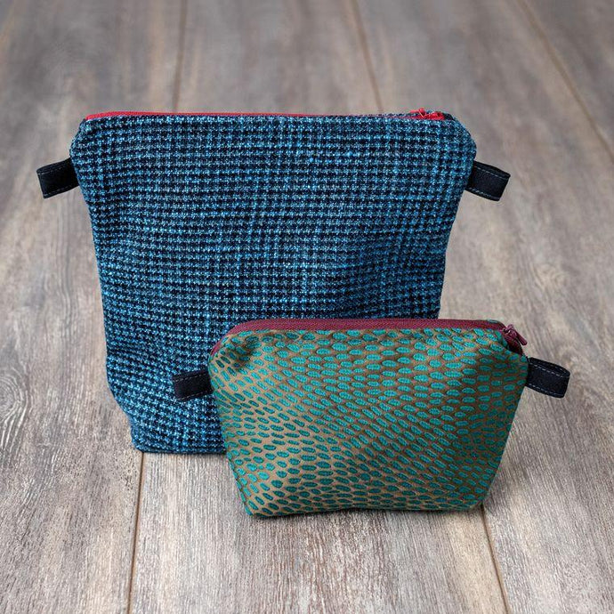 Upcycled Medium Wash / Toiletry Bag - Upcycled Medium Wash / Toiletry Bag - Shop NO Plastic