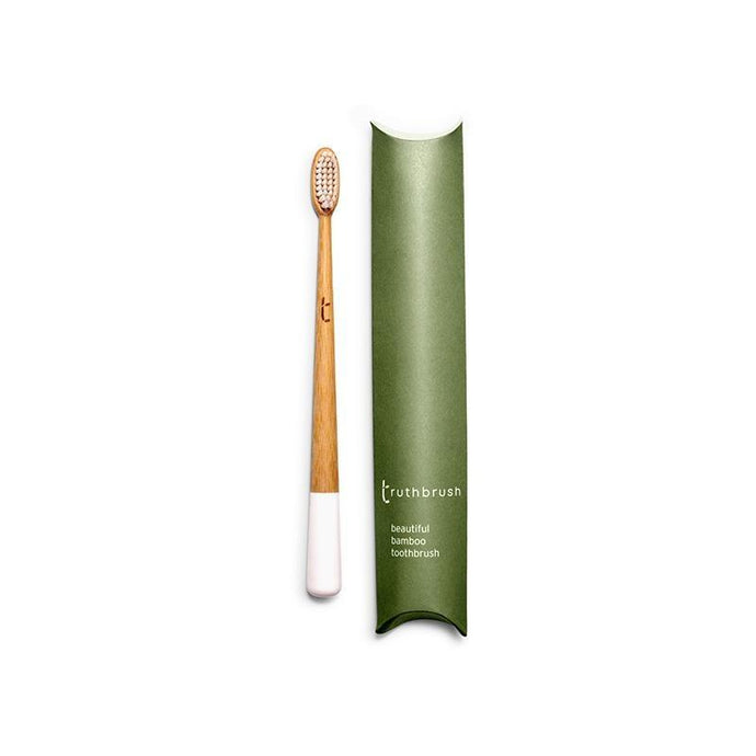 Bamboo Toothbrush - Medium - White - Shop NO Plastic