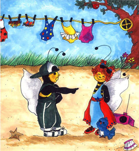 Bumble Bee Friends Greeting Card
