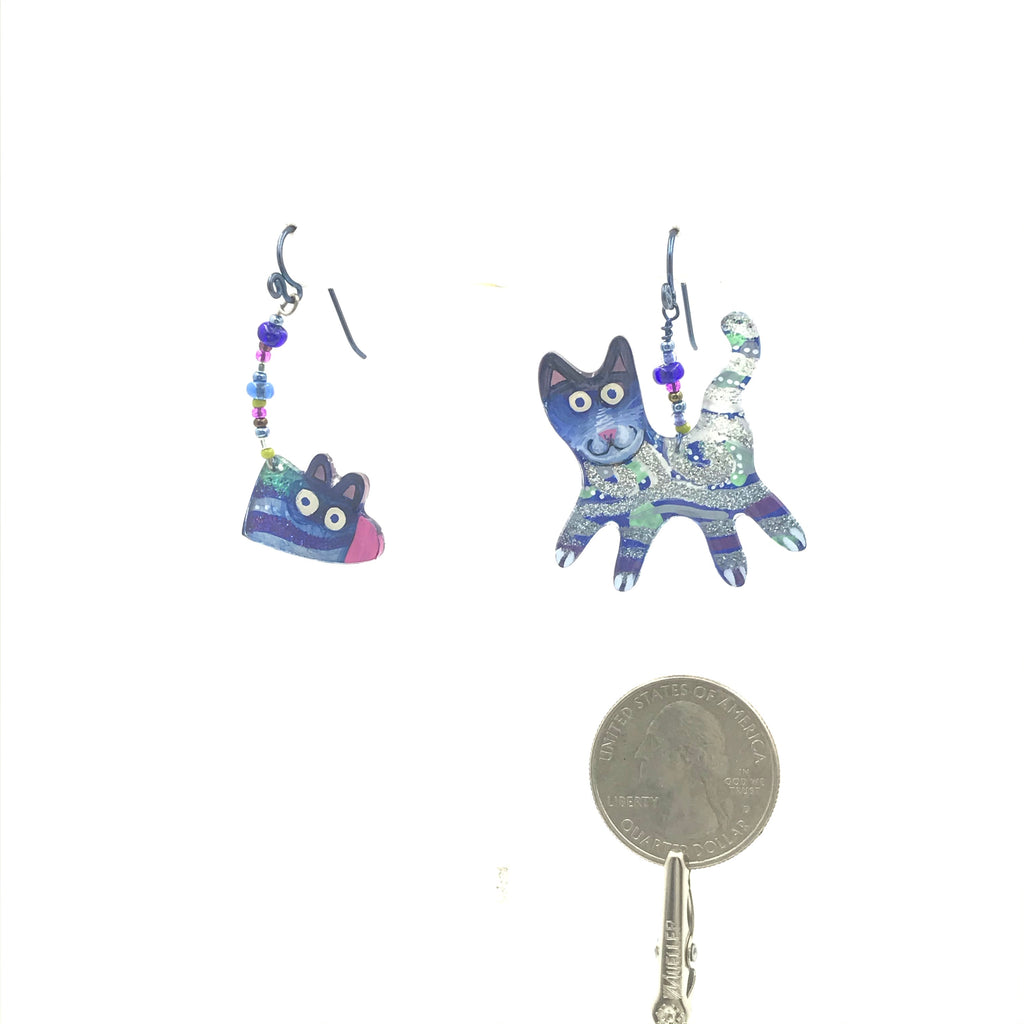 Cat and Beaded Tail Mouse