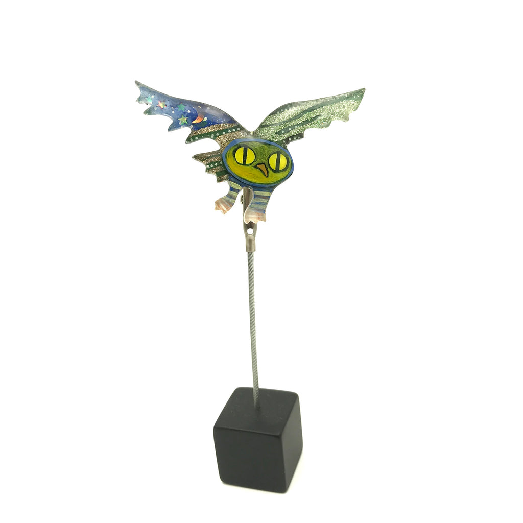 Flying Owl Art Pin