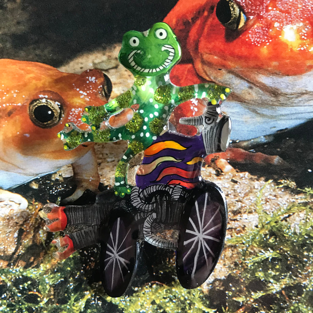 Frog on a Motorcycle