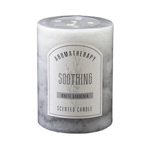 White Gardenia Pillar Candle 3x4