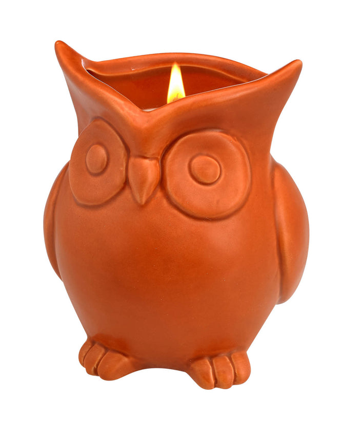 PUMPKIN SOUFFLE SCENTED OWL CANDLE