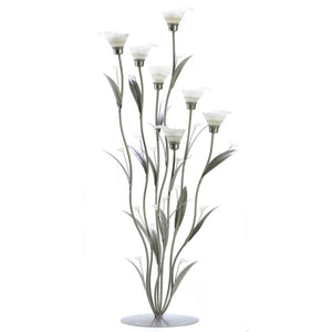 Silver Calla Lily Candleholder