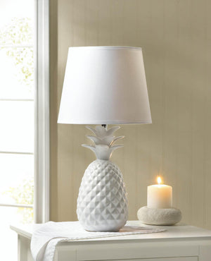 WHITE PINEAPPLE TABLE LAMP