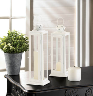 LARGE CUTOUT STARS WHITE LANTERN