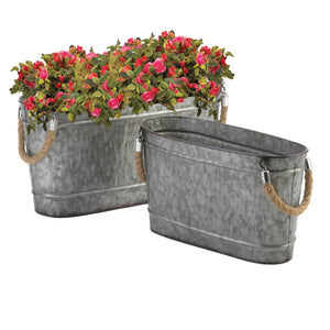 GALVANIZED BUCKET DUO