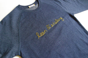 Follow Your Dream sweatshirt in Irish. Lean d'asiling. Hand-embroidered in Dublin, Ireland by Hoopla Focal.
