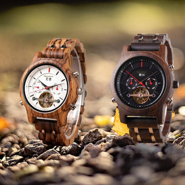 New in! Luxury Wooden Automatic Dive Watch