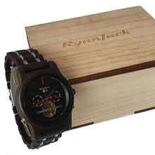 Load image into Gallery viewer, Luxury Wooden Dive Watch Automatic Chronograph Mechanical Wood Wristwatch - Ebony - ryanjackcouk