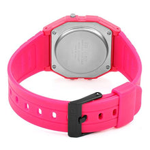 Load image into Gallery viewer, Casio Unisex Watch in Resin/Acrylic Glass LED Light Pink F-91WC-4AEF