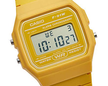Load image into Gallery viewer, Casio Unisex Watch in Resin/Acrylic Glass LED Light Yellow F-91WC-9AEF