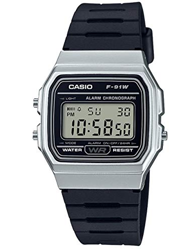Casio Collection Unisex Adults Watch Silver F-91WM-7AEF