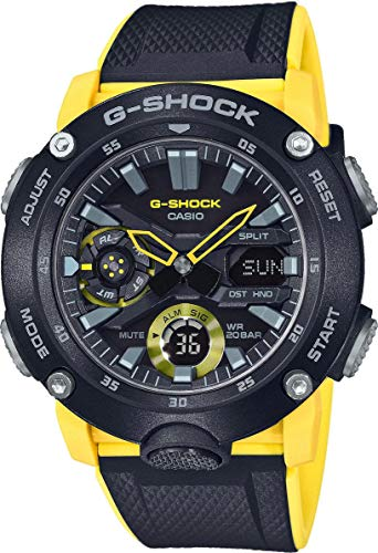 CASIO Men's Analogue-Digital Quartz Watch with Resin Strap yellow GA-2000-1A9ER