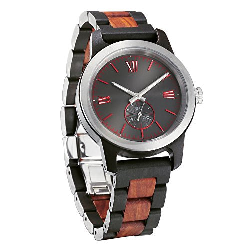 Wilds | Men's Handcrafted Ebony & Rose Wood Watch