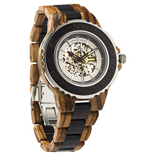 Wilds | Automatic Zebra & Ebony Wooden Watch