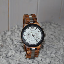 Load image into Gallery viewer, Choronograph Wood Watch Timepieces With Stainless Steel Strap - ryanjackcouk