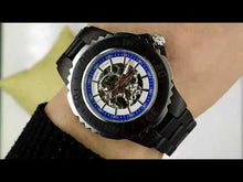 Load and play video in Gallery viewer, Wilds | Automatic Ebony Wooden Watch