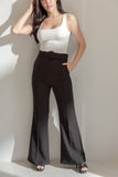 High-Waisted Flared Pants (Black)