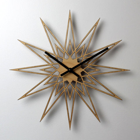WOODEN WALL CLOCK - StarBurst V2