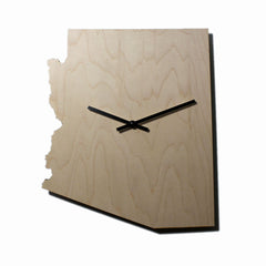 STATE MAP WALL CLOCKS