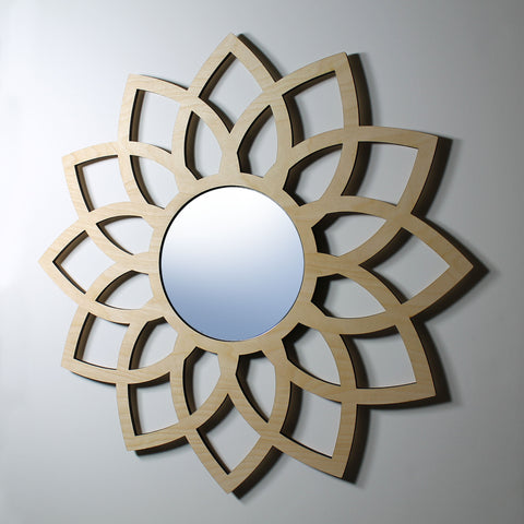 "LOTUS WALL MIRROR - 6"" mirror"