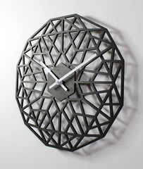WOODEN WALL CLOCK - LATTICE