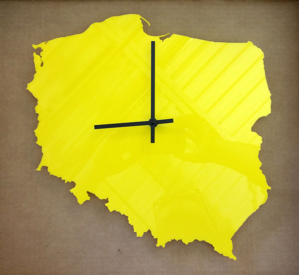 COUNTRY MAP WALL CLOCKS - ACRYLIC