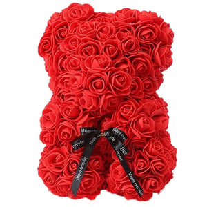 Red Rose Teddy Bear - Valentines Gift