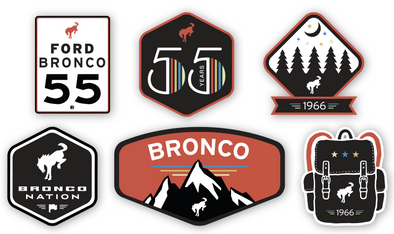 Sticker Pack – Happy Birthday Bronco