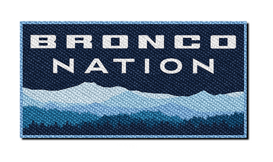 Bronco Nation Classic Patch - Mountain