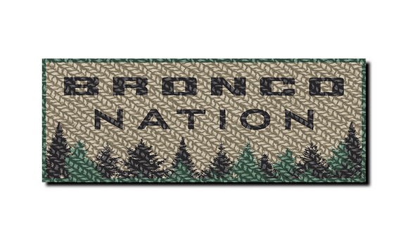 Bronco Nation Classic Patch - Forest