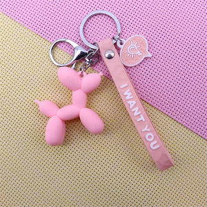 Cartoon Balloon Dog Keychain - I Will Bling