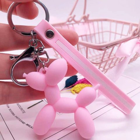 Image of Cartoon Balloon Dog Keychain - willbling