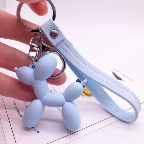 Image of Cartoon Balloon Dog Keychain - I Will Bling