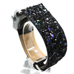 Shiny Glitter Power PU Leather Bling - willbling