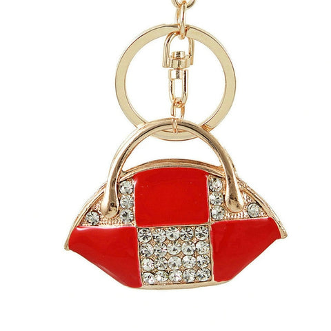 Crystal Handbag Keychains - willbling