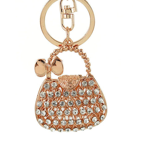 Crystal Handbag Keychains - I Will Bling