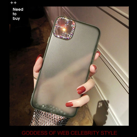 Image of Matte Case  w/ Bling Diamond Camera Protection - willbling