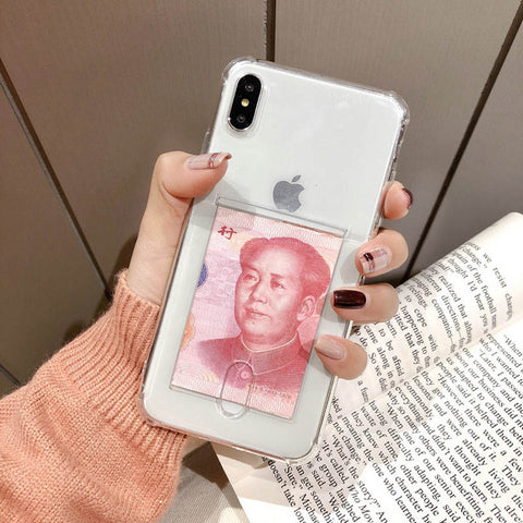 Transparent  Card Holder Phone - willbling