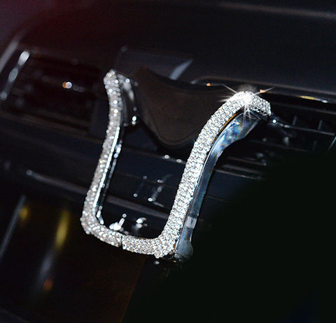 Car Phone Holder with Bing Crystal Rhinestone - willbling