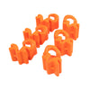 Unitrack Orange Clips - 6 Pack